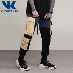 Side Big Pockets Sweatpants Ribbon Joggers  pants